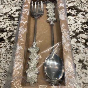 Mackenzie Childs snowflake salad set new in box